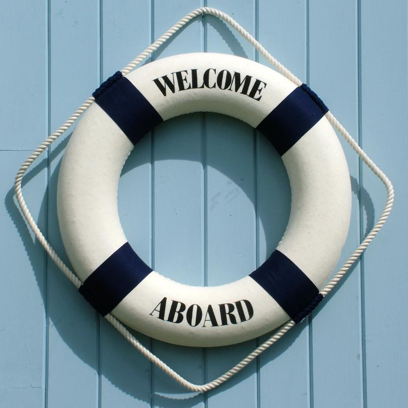life ring welcome aboard